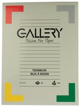 Gallery tekenblok, houtvrij papier, 120 g/m², ft 24 x 32 cm, blok van 24 vel