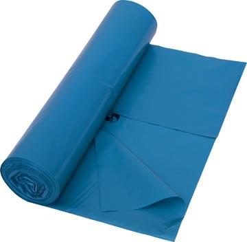 Vuilniszak 38 micron, ft 70 x 110 cm, blauw, rol van 25 stuks
