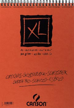 Canson schetsblok XL ft 29,7 x 42 cm (A3), blok van 120 blad