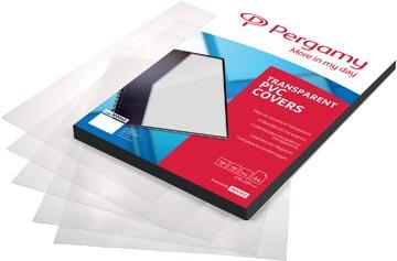 Pergamy omslagen uit transparante PVC ft A4, 300 micron, pak van 100 stuks