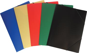 Pergamy elastomap geassorteerde kleuren: rood, blauw, groen geel en zwart