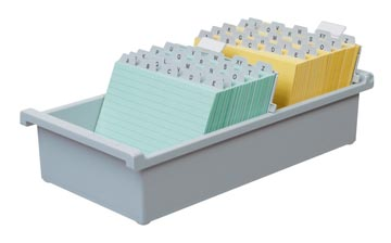 Systeemkaartenbakken uit kunststof