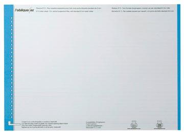 Elba etiketten voor hangmappen voor laden blauw, 1 vel met 27 etiketten